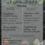 nino sole menu