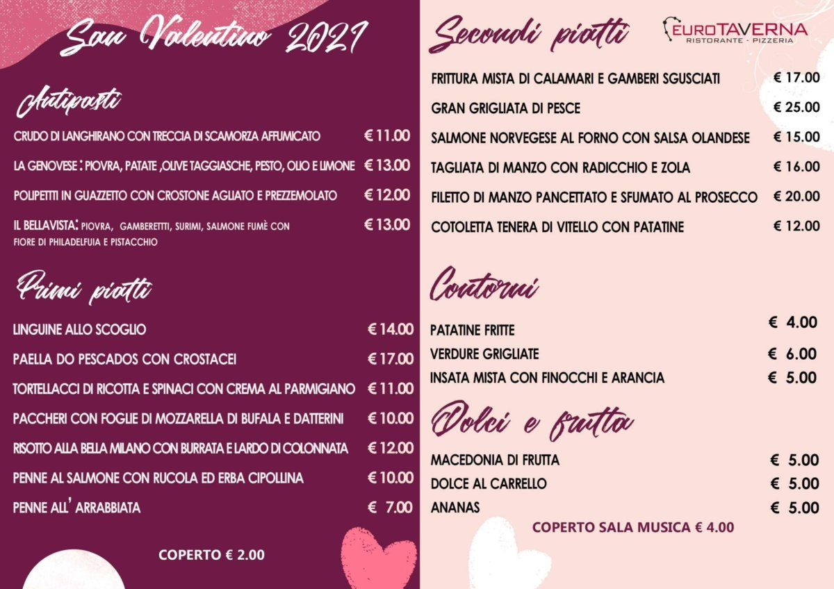 san valentino 2021 eurotaverna